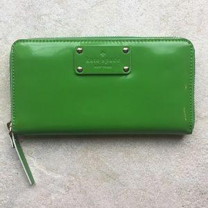 Green Kate Spade Wallet